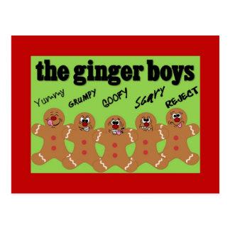 Gingerbread Man Boy Band Holiday Event Invitation Postcard