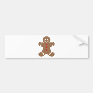 Gingerbread Man Bumper Sticker