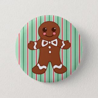 Gingerbread Man Button