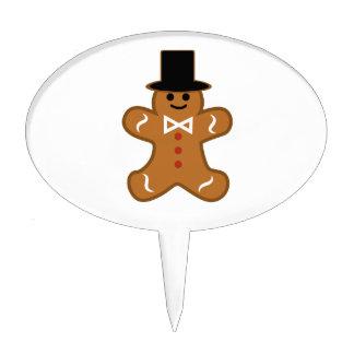 Gingerbread Man Cake Topper