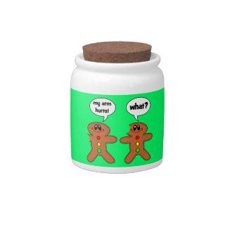 gingerbread man candy dish