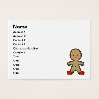 Gingerbread man cartoon business card