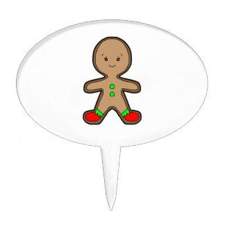 Gingerbread man cartoon cake topper