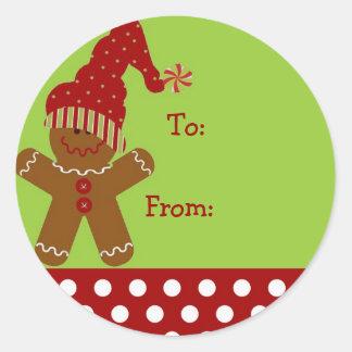 Gingerbread Man Chirstmas Gift Tag