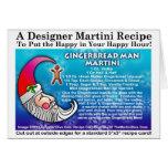 GINGERBREAD MAN CHRISTMAS COCKTAIL RECIPE CARD