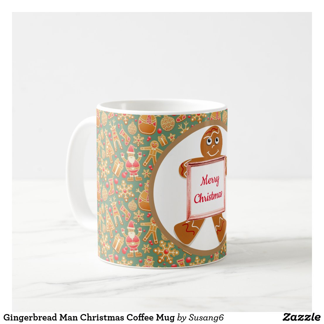 Gingerbread Man Christmas Coffee Mug