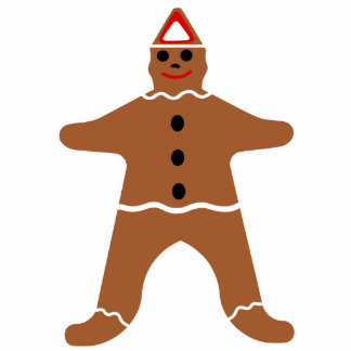 Gingerbread Man Christmas Cookie Cutout