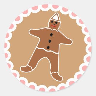 Gingerbread Man Christmas Cookie Sticker