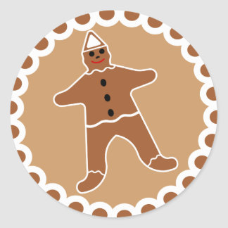 Gingerbread Man Christmas Cookie Sticker