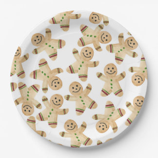 Gingerbread Man Christmas Dinner Paper Plates  sc 1 st  Zazzle & Gingerbread Man Christmas Plates | Zazzle