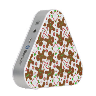 Gingerbread man Christmas Monograme Speaker