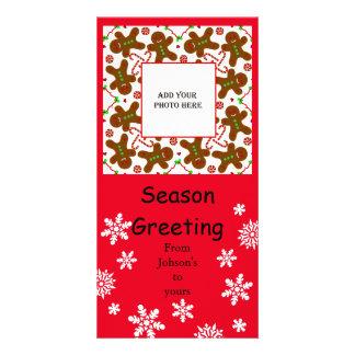 Gingerbread man Christmas personalizable Card