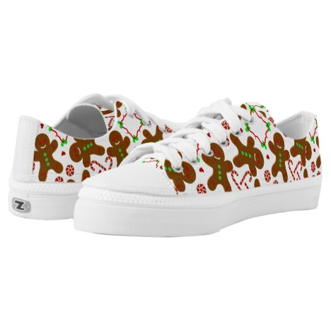 Gingerbread man Christmas personalizable Low-Top Sneakers