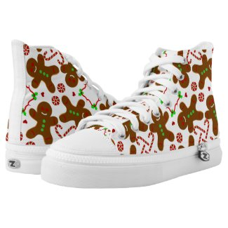 Gingerbread man Christmas personalizable Printed Shoes