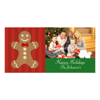 Gingerbread Man Christmas Photo Cards