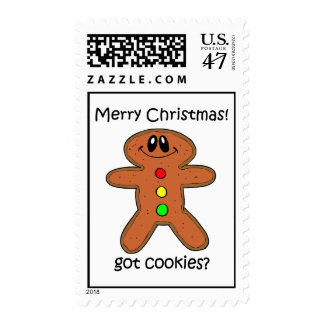gingerbread man Christmas Postage