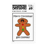 gingerbread man Christmas Stamps