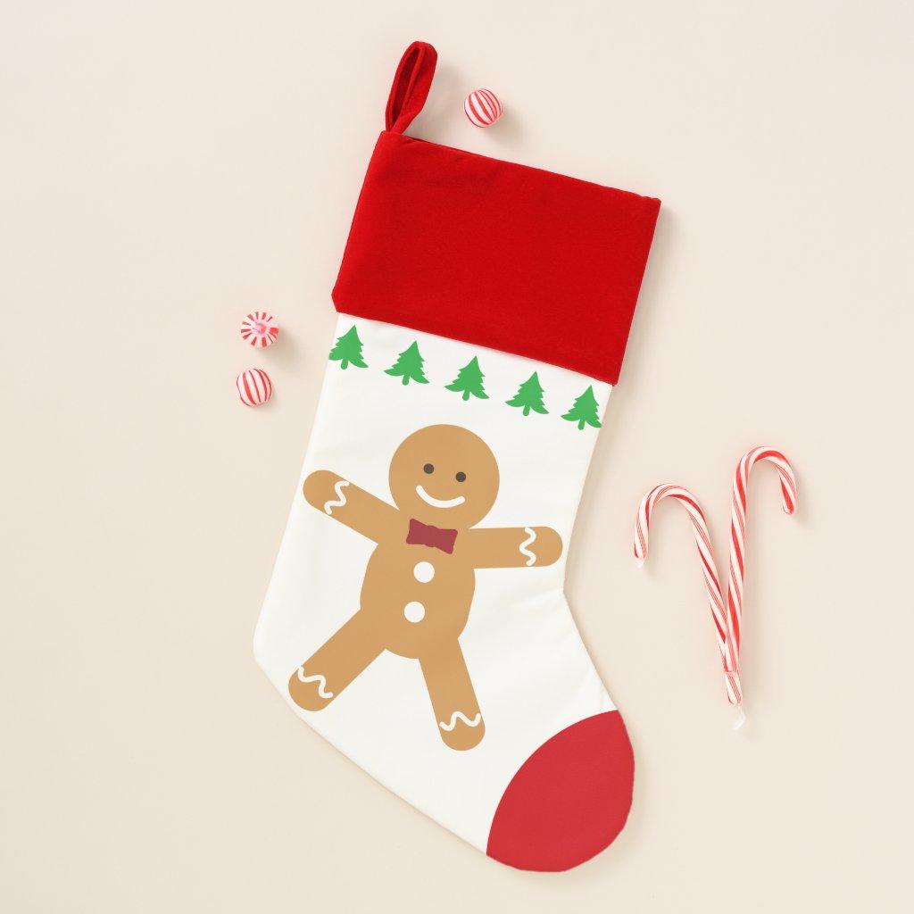 Gingerbread Man Christmas Stocking