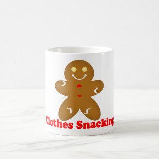 Gingerbread Man Clothes Snacking Coffee Mug