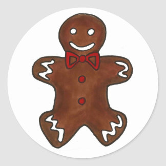 Gingerbread Man Cookie Christmas Holiday Stickers