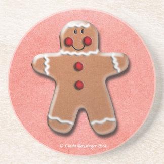 Gingerbread Man Cookie Coaster