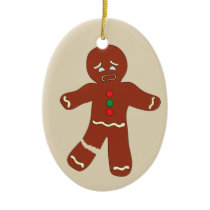 Gingerbread Man Cookie Funny Christmas Ornament