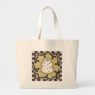 Gingerbread Man Cookie Jumbo Tote Bag