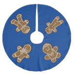 Gingerbread Man cookie Brushed Polyester Tree Skirt
