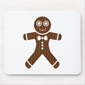 Gingerbread Man Cookie Mouse Pad