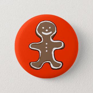Gingerbread man cookie pinback button