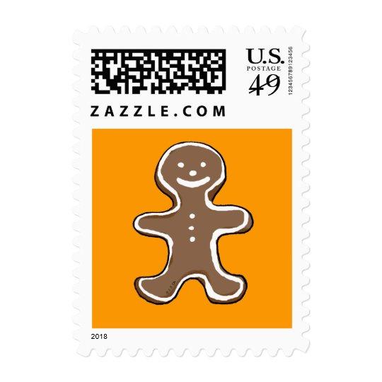 Gingerbread man cookie postage