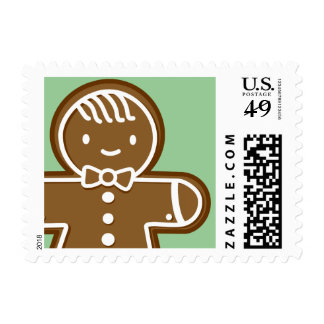 Gingerbread Man cookie Postage Stamps