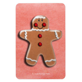 Gingerbread Man Cookie Rectangular Photo Magnet