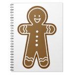 Gingerbread Man cookie Spiral Notebook