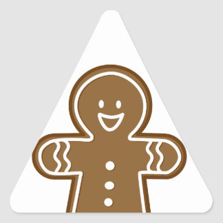 Gingerbread Man cookie Triangle Sticker