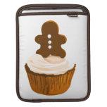 Gingerbread man cupcake Rickshaw iPad sleeve