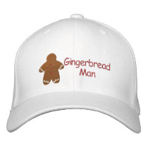 Gingerbread Man Custom Embroidery Pattern Embroidered Baseball Cap