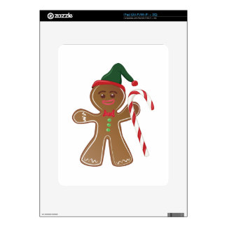 Gingerbread Man Decal For iPad