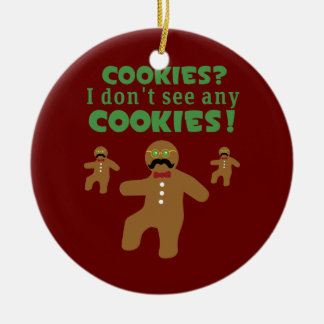 Gingerbread Man Disguise Double-Sided Ceramic Round Christmas Ornament