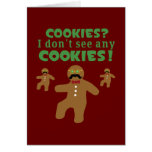 Gingerbread Man Disguise Greeting Card