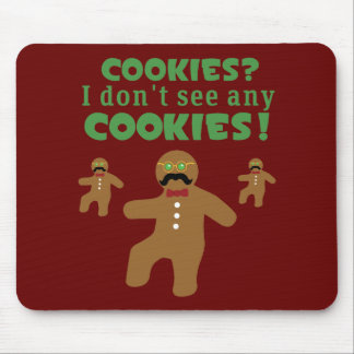 Gingerbread Man Disguise Mouse Pad