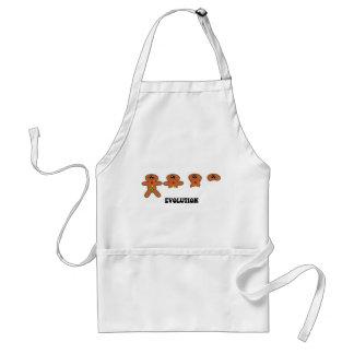 gingerbread man evolution adult apron