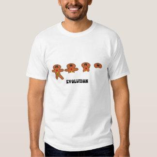 gingerbread man evolution t shirt