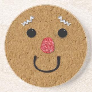 Gingerbread Man Face Coaster
