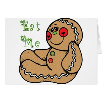 GingerBread Man Funny Christmas Card