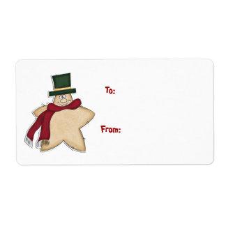 Gingerbread Man Gift Label