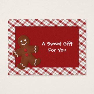Gingerbread Man Gift Tags