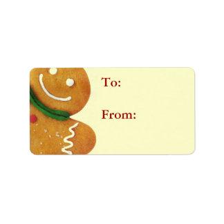 Gingerbread Man Gift Tags Custom Address Labels