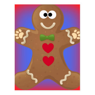 Gingerbread Man Goo Goo Eyes Postcard