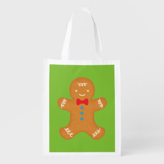 Gingerbread Man Grocery Bags